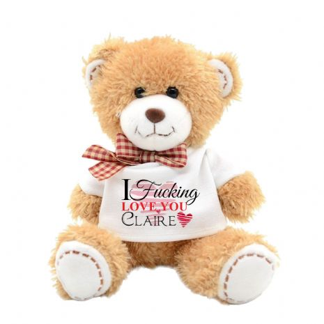 Personalised I F****** Love You Swear Teddy Bear N7